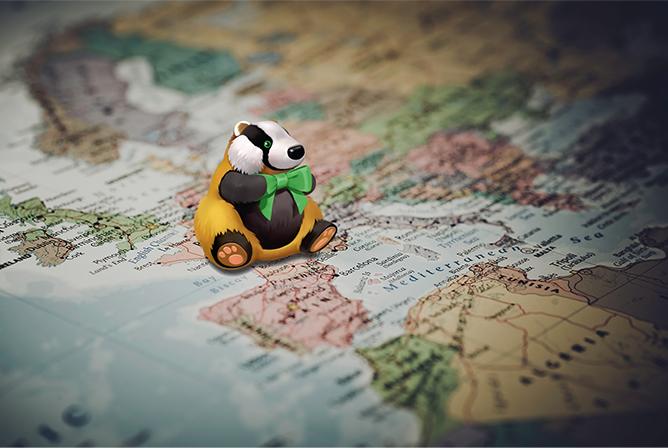 Барсук на карте