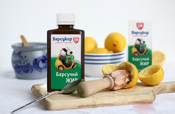 Барсучий жир с лимоном