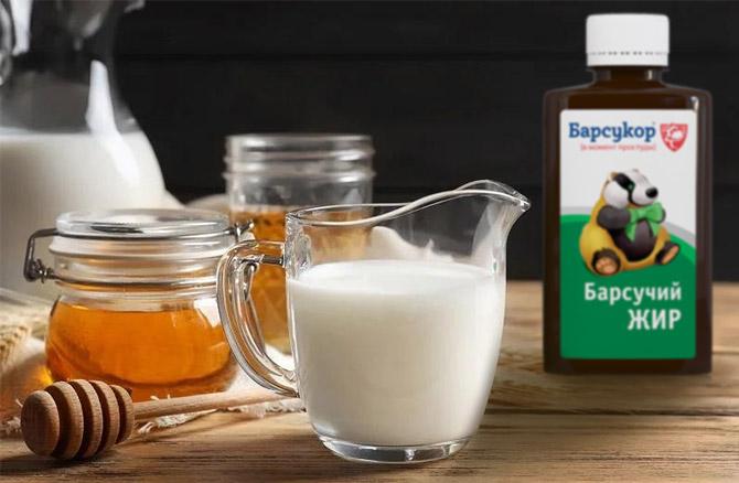 Барсучий жир молоко и мед